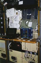 Fluid Therapy System Experiment Setup On Board Spacelab J (SL-J)