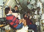 Hand-Over Period Inside Spacelab