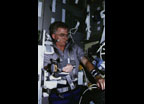 Life and Microgravity Spacelab (LMS) Payload Operations, Torque-Velocity Dynamometer (TVD) arm muscle testing