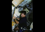 Life and Microgravity Spacelab (LMS) Payload Operations, blood draw