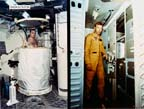 Skylab Shower and Waste Management Compartment