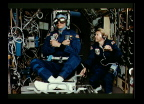 SLS-2 Astronauts Using the Rotating Chair
