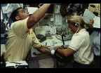 SLS-2 Astronauts Perform a Blood Draw