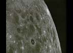 View of lunar surface taken from Apollo 8 spacecraft