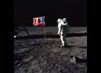 Astronaut Edwin E. Aldrin, Jr. on the lunar surface
