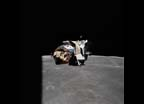Ascent stage of Apollo 16 Lunar Module approaches Command/Service Modules