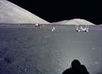 Wide-angle view of Apollo 17 lunar landing site