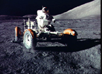 Apollo 17 Astronaut in the Lunar Roving Vehicle