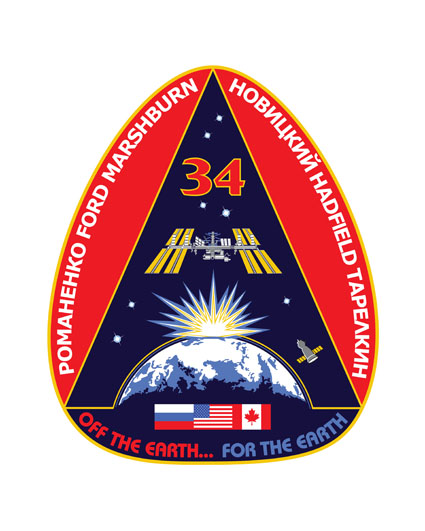 ISS Expedition 34 Crew Patch