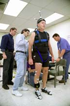 Dr. Bloomberg (background left), Chris Miller (foreground left), Brian Peters and John Phillips Prior to Start of Mobility BDC