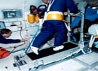 Subject using EDO Treadmill on KC-135