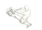 Drawing of Rower Exerciser