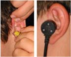 Otoacoustic Hearing Assessment Ear Tip and Probe Orientation