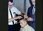 Astronauts James Lovell and Frank Borman during Preflight Physical