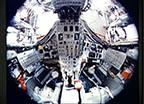 Fish-eye View of the Interior of the Gemini 7 Spacecraft