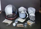 Apollo Glove Assembly, Helmet, and Space Food