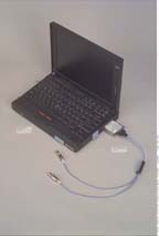 IBM Thinkpad 760XD computer with PCMCIA Card and Cable