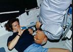 STS-31 Astronauts Sullivan and  McCandless Perform DSO 462 in Shuttle Middeck