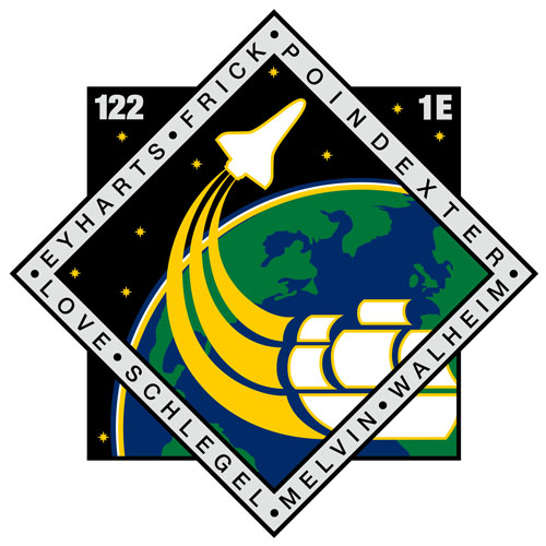 STS-122 Crew Patch